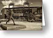 Phillies Greeting Cards - Citizens Park 2 Greeting Card by Jack Paolini