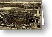 Phillies Greeting Cards - Citizens Park and The Link Greeting Card by Jack Paolini