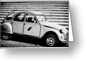 Old Volkswagen Car Greeting Cards - Citroen Deux Cheveux Greeting Card by John Rizzuto