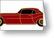 Asbjorn Lonvig Greeting Cards - Citroen E - Virtual Car Greeting Card by Asbjorn Lonvig