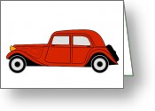 Asbjorn Lonvig Greeting Cards - Citroen Traction Avant Greeting Card by Asbjorn Lonvig