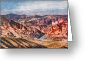 Colorado Mountains Greeting Cards - City - Arizona - Grand Hills Greeting Card by Mike Savad