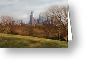 Spring Scenes Greeting Cards - City - Philadelphia PA  - The city of Philadelphia  Greeting Card by Mike Savad