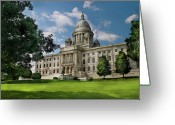 Judge Greeting Cards - City - Providence RI - The capitol  Greeting Card by Mike Savad