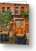 Greenwich Greeting Cards - City - Vegas - NY - A look at Greenwich Village Greeting Card by Mike Savad