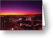 Thank You Greeting Cards - City - Vegas - NY - Sunrise over the city Greeting Card by Mike Savad