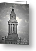 Landmarks Greeting Cards - City and County of Denver building Greeting Card by Christine Till