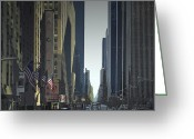Traffic Greeting Cards - City-Art 6th Avenue NY  Greeting Card by Melanie Viola
