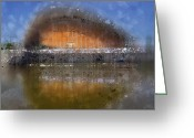 Colourspot Greeting Cards - City-Art BERLIN Pregnant Oyster Greeting Card by Melanie Viola