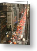 Manhattan Greeting Cards - City Bokeh Greeting Card by Photo by Jodi McKee