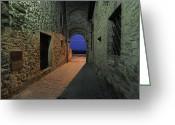 Brunello Greeting Cards - City Door of San Gusme Greeting Card by Maurizio Martini