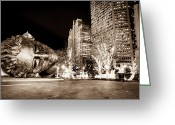 City Garden Greeting Cards - City Garden Greeting Card by Bradley  Blackburn