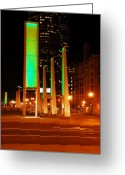 New England Digital Art Greeting Cards - City Green Greeting Card by William Carroll