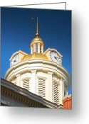 City Hall Greeting Cards - City Hall Dome I Greeting Card by Steven Ainsworth