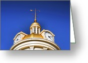 City Hall Greeting Cards - City Hall Dome III Greeting Card by Steven Ainsworth