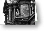 Cityhall Greeting Cards - City Hall Edifice - Philadelphia Greeting Card by Bill Cannon