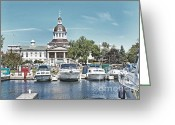 Kingston Greeting Cards - City Hall Kingston Ontario Canada Greeting Card by Peggy Holcroft