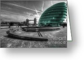 City And Colour Greeting Cards - City Hall London Greeting Card by Rob Hawkins