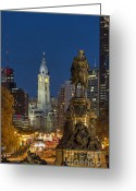 Philadelphia Greeting Cards - City Hall Philadelphia Greeting Card by John Greim