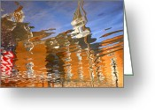 City Hall Greeting Cards - City Hall Reflection II Greeting Card by Steven Ainsworth
