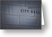 Occupy Greeting Cards - City Hall Greeting Card by Stephanie Tso