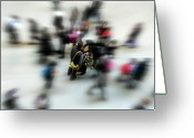 Cuty Greeting Cards - City in Movement Greeting Card by Osvaldo Hamer