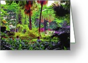 Park Benches Greeting Cards - City Jungle 2 Greeting Card by Steve Ohlsen