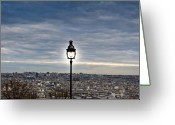 Old Street Photo Greeting Cards - City Lamp Greeting Card by Nila Newsom