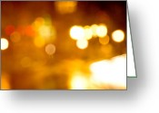 Toriaray Greeting Cards - City Lights Greeting Card by Victoria Lawrence