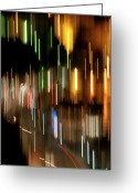 Quite Greeting Cards - City Ligths  Greeting Card by Pedro Cardona