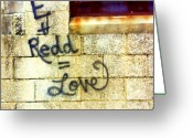 Spraypaint Greeting Cards - City Love Greeting Card by Angie Rayfield