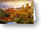 Mythical Greeting Cards - City of Gold Greeting Card by Karen Koski