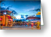Downtown Disney Greeting Cards - City of Gold Greeting Card by Ryan Crane