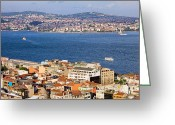 Beyoglu Greeting Cards - City of Istanbul Greeting Card by Artur Bogacki