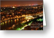 Streets Greeting Cards - City of Light Greeting Card by Elena Elisseeva