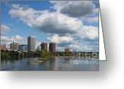 Richmond Greeting Cards - City of Richmond on the James River Greeting Card by Sean Cupp