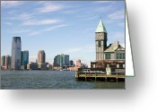 Battery Park Greeting Cards - City Pier A - New York Greeting Card by David Gardener