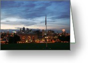 Kansas City Greeting Cards - City Scape Greeting Card by Eddie Miller