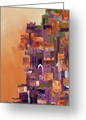 Tropical City Prints Greeting Cards - City Scape L Greeting Card by Paul Harrington