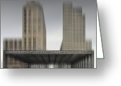 Traffic Greeting Cards - City-Shapes BERLIN Potsdamer Platz Greeting Card by Melanie Viola
