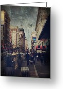 San Francisco Greeting Cards - City Sidewalks Greeting Card by Laurie Search
