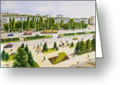 Busy City Greeting Cards - City Greeting Card by Svetlana Sewell