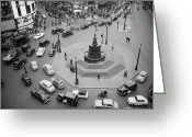 Eros Statue Greeting Cards - City Traffic Greeting Card by Werner Rings