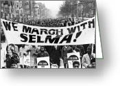Civil Rights Greeting Cards - Civil Rights March, 1965 Greeting Card by Granger