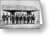 Defence Greeting Cards - Civil War: Black Troops Greeting Card by Granger