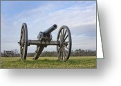 Canons Greeting Cards - Civil War Cannon at Manassas National Battlefield Park - Virginia Greeting Card by Brendan Reals