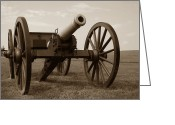 Wheels Greeting Cards - Civil War Cannon Greeting Card by Olivier Le Queinec