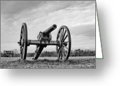 Canons Greeting Cards - Civil War Canon - Manassas Battlefield - Virginia Greeting Card by Brendan Reals