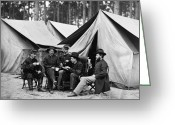 Pouring Greeting Cards - Civil War: Drinking, 1864 Greeting Card by Granger