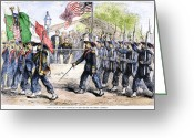 Regiment Greeting Cards - Civil War: Garibaldi Guard Greeting Card by Granger